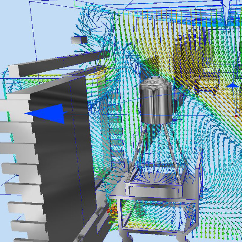 3D air flow computer simulation